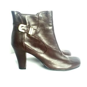 AEROSOLES A2 Brown Boots Faux Leather